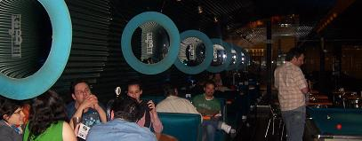 Booths at Deep Blue Pool Bar, Buenos Aires