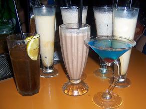 Cocktails and Milkshakes at Deep Blue