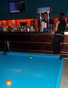Pool Tables in Deep Blue Bar