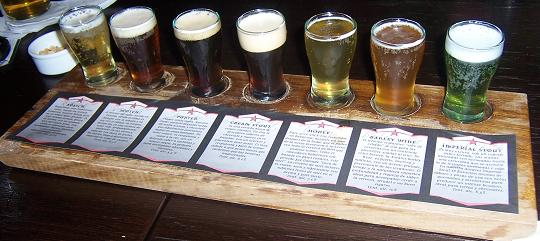Beer Sampler in Antares Bar