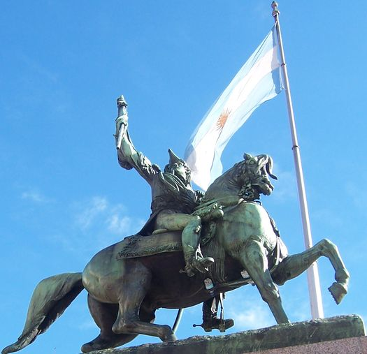 Manuel Belgrano created the national flag of Argentina