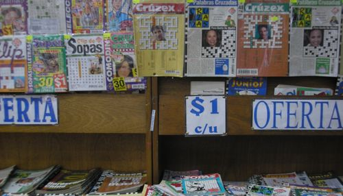 Magazines and Puzzle books also abound