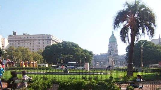 View of Plaza Congreso and the Argentine Congress Building