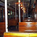 Inside carriage on Buenos Aires Subway Line A