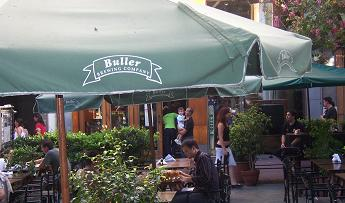 Buller Pub Beer Garden with parasol