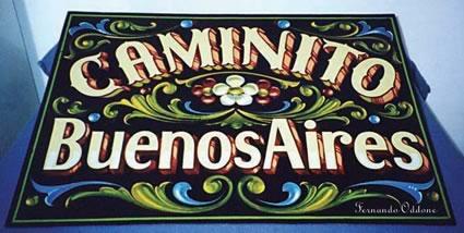 Filete sign of Caminito