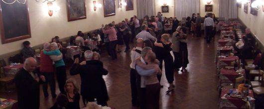 Tango Dancing at the Chique Milonga in Congreso, Buenos Aires