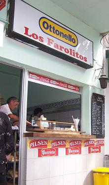 Los Farolitos Burger Stall in Colonia