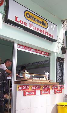Los Farolitos Burger Stall in Colonia