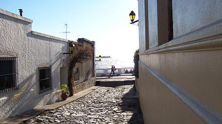 Picturesque street in Colonia, Uruguay