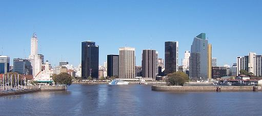 Buenos Aires Skyline viewed from the Buquebus