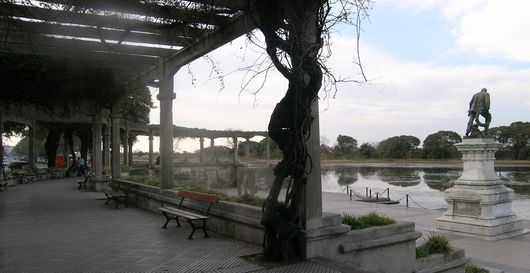 Patio area in the Costanera Sur nature reserve