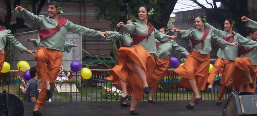 Dancers from the La Rioja province of Argentina, at the Mataderos fair