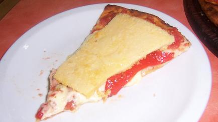 Pizza con faina in Guerrin