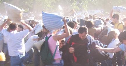 Buenos Aires Palermo Pillow Fight rages on