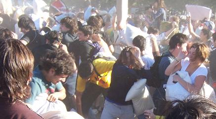 In the thick of the Buenos Aires Pillow Fight