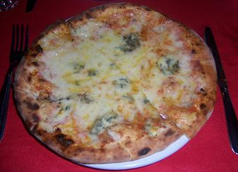 My Quattro Formaggi Pizza. All miiiiiiine...