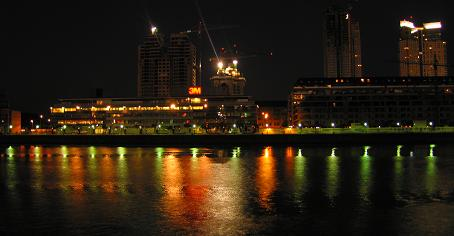 Puerto Madero Lit Up by Night