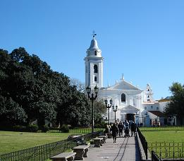 The Church of Our Lady of Pilar, Recoleta, on a crisp winter's day