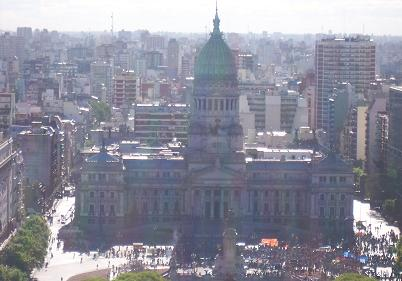 View of Congress from the roof of the Palacio Barolo