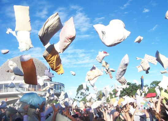 Pillow Fight in Buenos Aires