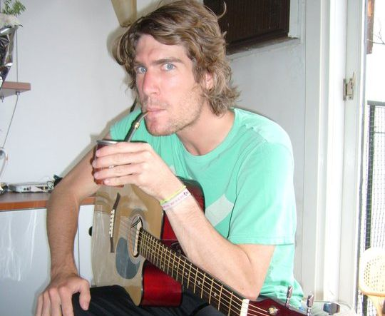 Do as the Argentines do - drink mate and play guitar!