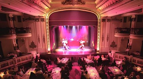 The beautiful setting for tango at the Piazzolla Tango Show, Buenos Aires