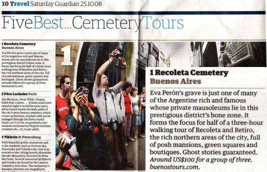 BuenosTours - Number 1 tour in the Guardian!