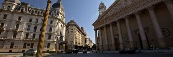 Beautiful buildings and architecture in central Buenos Aires
