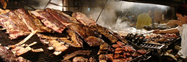 More Argentines prefer a parrilla grill full of beef than a prime steak!