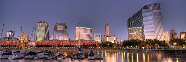 The stunning skyline of Puerto Madero in Buenos Aires