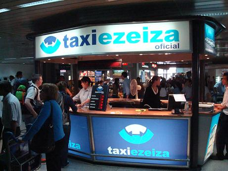 Taxi Ezeiza stand at EZE airport