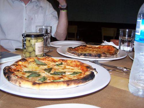 Tasty Italian style pizza at La Panaderia de Pablo in Buenos Aires