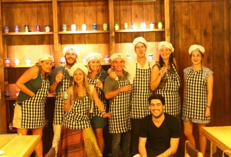 Group shot at the Argentine Experience in Buenos Aires