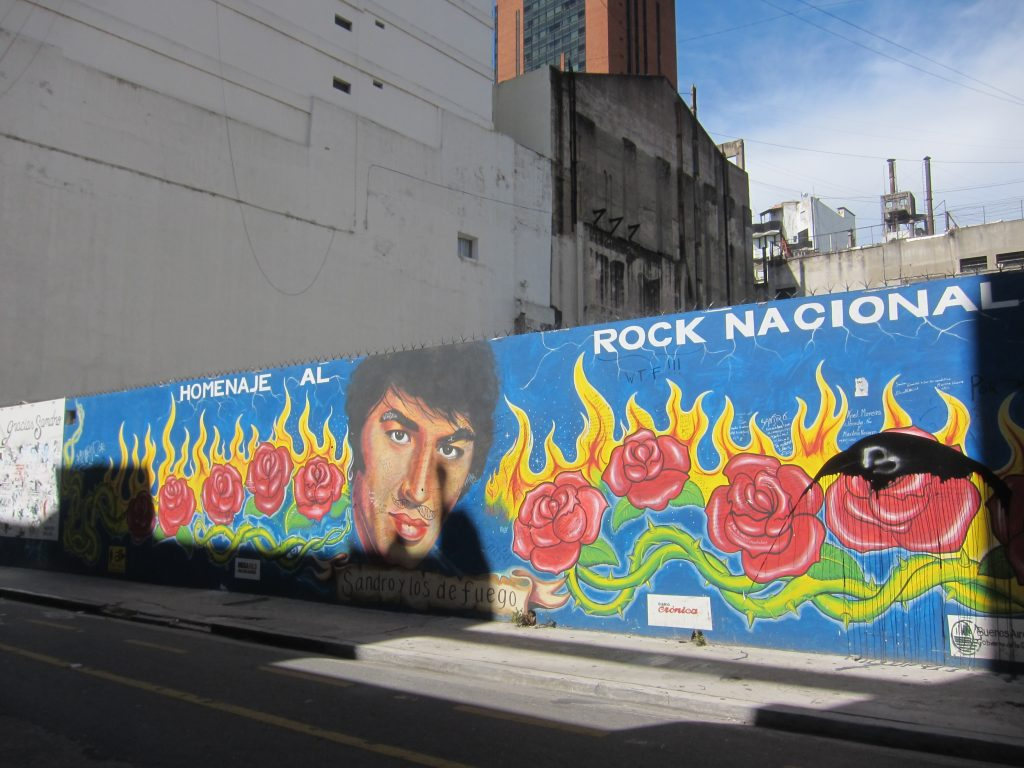 Argentina rock Sandro mural