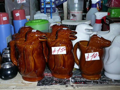 "Traditional ""pinguino"" wine jugs in Buenos Aires"