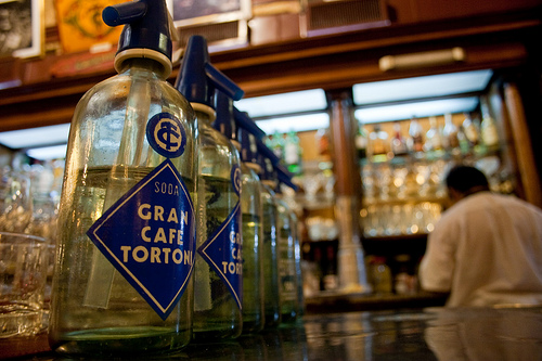 The counter in the historic Cafe Tortoni in Buenos Aires