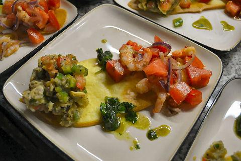 Middle Eastern salad starter at Casa SaltShaker in Argentina