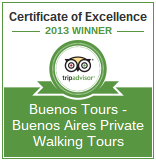 TripAdvisor 2013 Certificate of Excellence for BuenosTours