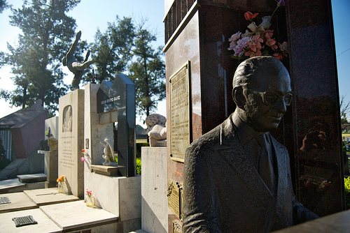 Pugliese in Chacarita Cemetery, Buenos Aires