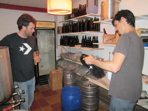 The Terren brothers of Broeders artesanal beer in Argentina