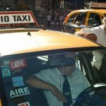 Taking a taxi in Buenos Aires