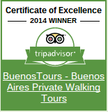 TripAdvisor Certificate of Excellence 2014 for BuenosTours