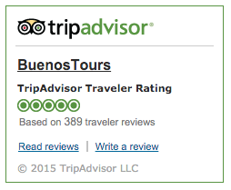 BuenosTours 5 star rating on TripAdvisor