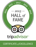 TripAdvisor 2015 Hall of Fame Certificate for BuenosTours
