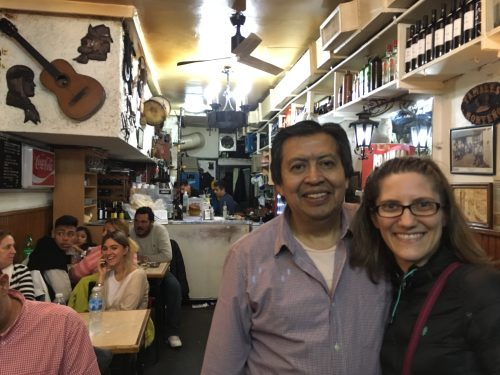 Hector, the owner of Ña Serapia, and something of a local cult hero