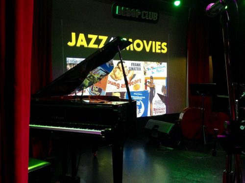 Bebop jazz club stage