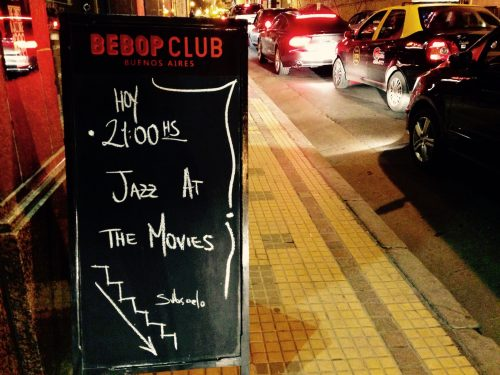 Bebop Club at street level in downtown Buenos Aires
