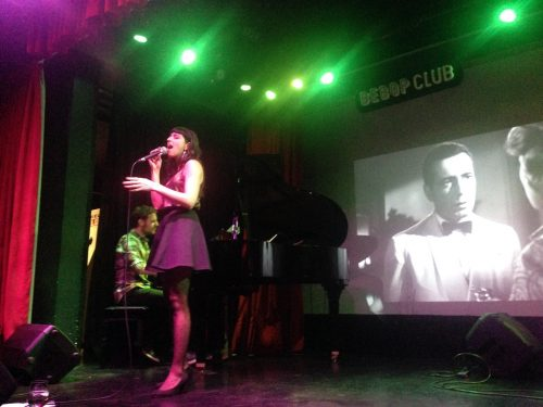 Luciana Morelli sings at Bebop Club