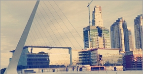 Beautiful Bridge in Puerto Madero